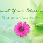Inspirational Quote: Count Your Blessings