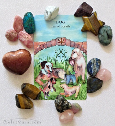 A single tarot card was drawn for the Fire Sign Leo birthday reading . The result is: Minor Arcana, Dog - Ten of Fossils.