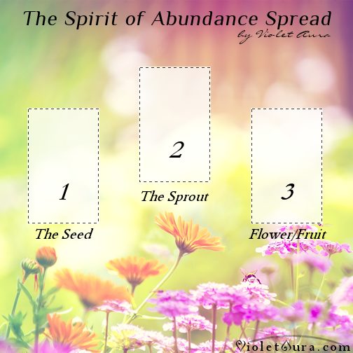 The Spirit of Abundance Tarot Spread by Violet Aura