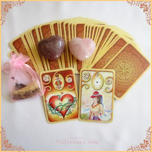 Lenormand Heart + Woman Combination