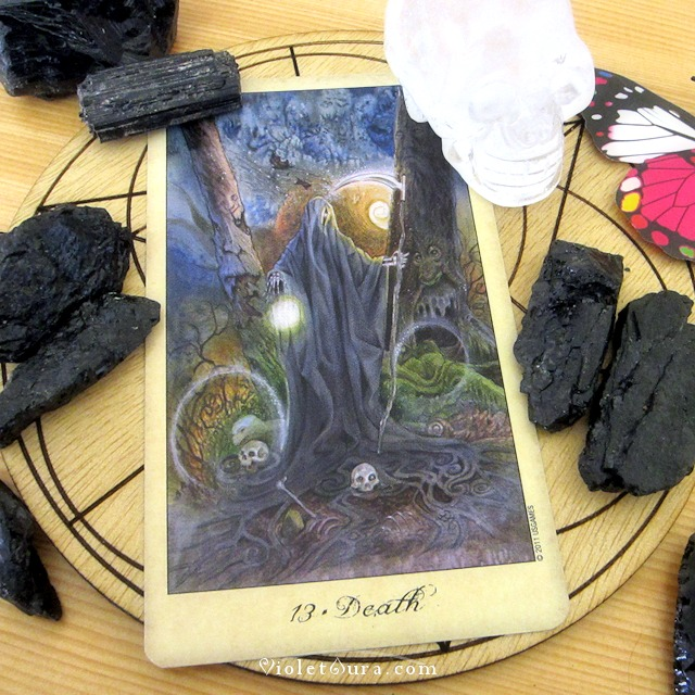 Tarot Death card, artwork by Lisa Hunt.