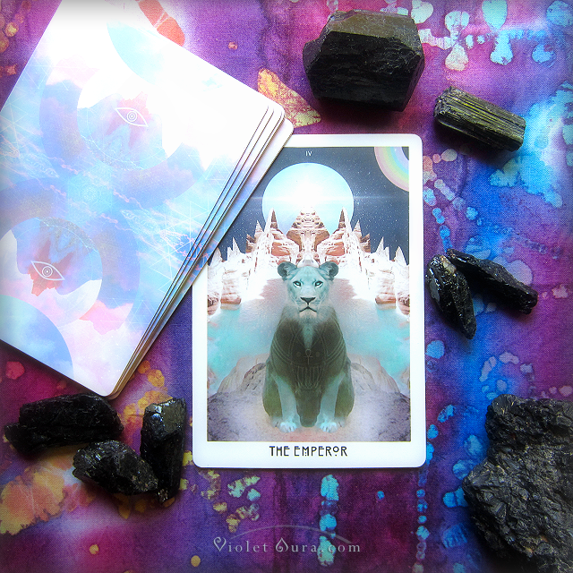 A message of purpose from the Emperor Card from the Starchild Tarot Akashic