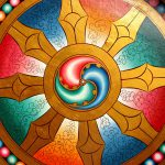 dharma wheel rainbow