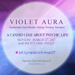 growing up psychic violet aura