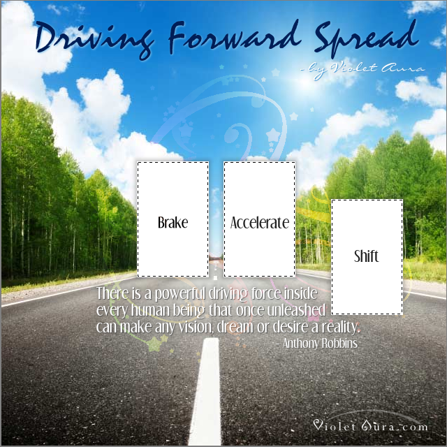 driving forward tarot card spread
